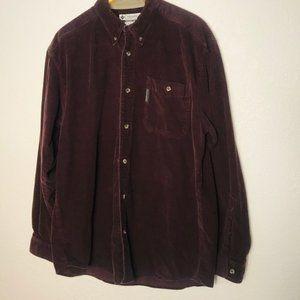 Columbia Corduroy Long Sleeve Button Up Shirt L